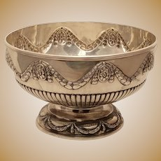 English Sterling Centerbowl / Punchbowl by Dobson 1884