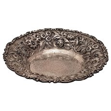 Sterling Silver Nut / Candy Dish in Repousse by A. Jacobi & Co.