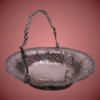 "Sterling Silver Piercework Basket, Marked ""London 1761 / Wm. Plummer"""