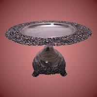 International Silver Large, Ornately-Decorated Sterling Compote