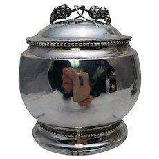 Danish Silver Handmade Jensen-Style Covered Bowl