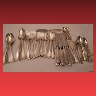 "Tiffany & Co. ""Gramercy"" Pattern - Sterling Silver Flatware - 70 pcs. - 110 ozt."