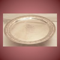 """Tiffany & Co. Sterling Silver 14"""" Round Tray"""