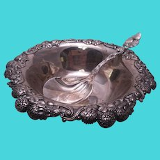 Tiffany & Co. Sterling Berry Bowl and Berry Spoon