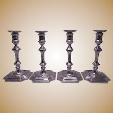 Set of 4 Crichton & Co. Sterling Silver George I Style Candlesticks