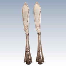 Silver Fish Knife Set in Jugendstil Design