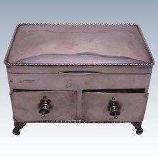 English Sterling Silver Jewelry Box / Ring Box