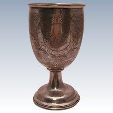 Sterling Silver Austrian Kiddush Cup / Wine Cup