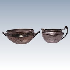 Tiffany & Co. Sterling Japanesque Creamer and Sugar Set