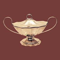 Sterling Silver Gravy Tureen / Covered Bowl by Justis & Armiger