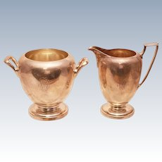 Cartier Sterling Creamer and Sugar