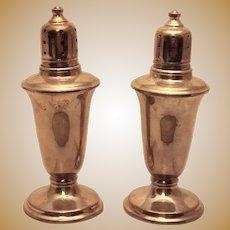 Pair of Sterling Salt Shakers in Paul Revere Style