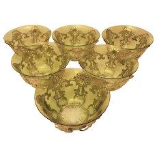 Set of 11 Tiffany Pierced Dessert/Finger Bowl Holders