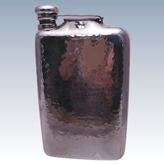 Shreve & Co. Hand-Hammered Sterling Silver 2-Pint Flask