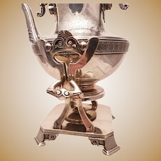 Tiffany & Co. Sterling Kettle on Stand