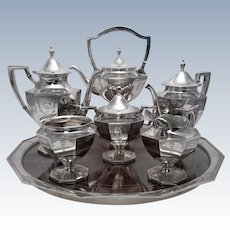 Shreve & Co. Sterling Tea Set 7 Pcs With Tray