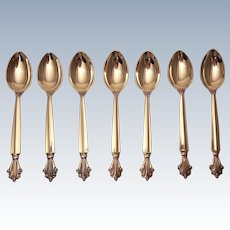 Georg Jensen Sterling Acanthus Tea Spoons Set of 7