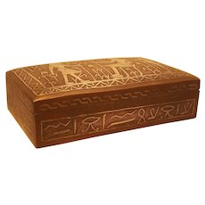 Copper and Silver Egyptian Jewelry Box