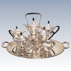 Tiffany & Co. Sterling Eight Piece Tea Service Art Deco With Tray