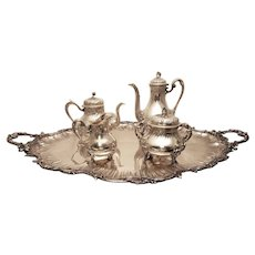 French Silver Tea Service 5 pc