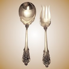 Sterling Serving Flatware by Wallace in Grand Baroque Pattern