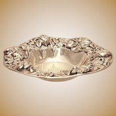 Gorham Sterling Serving Bowl Repousse