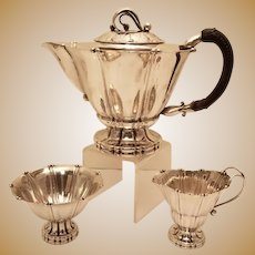 Early Georg Jensen Tea Set Pattern 4D