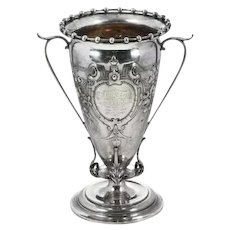 Gorham Silver Vase with Repousse