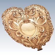 Gorham Sterling Dish in Heart Shape 1894