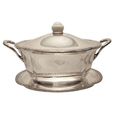 Silver Tureen With Matching Tray Austrian