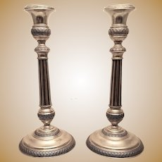 Silver Continental Candlesticks