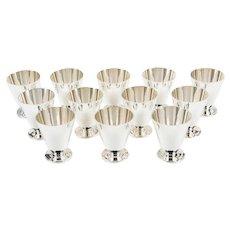 12 Tiffany & Co Sterling Silver Kiddush / Seder Cups