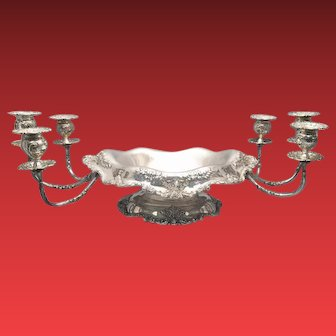 Sterling Centerpiece and Candelabra by Dominick and Haff