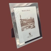 "Del Conte Sterling Silver Picture Frame 10x8"" With Easel"