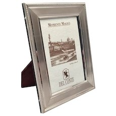 Del Conte Sterling Picture Frame Fine Border Wooden Easel 3 1/2 x 5