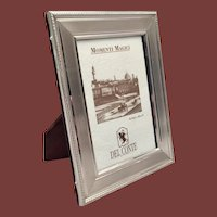 Del Conte Sterling Silver Picture Frame With Fine Border