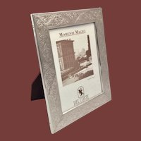 Sterling Silver Picture Frame by Del Conte in Acanthus Pattern