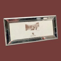 Italian Sterling Silver Picture Frame by Delconte With Beading