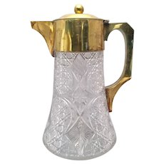Antique Gilt and Glass Pitcher by Mappin & Web & Asprey