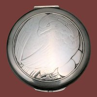 Georg Jensen Sterling Silver Compact With Chased Eagle
