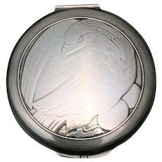 Georg Jensen Sterling Compact With Chased Eagle 277A