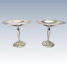 Pair of Sterling Compotes by Towle in Lady Diana Pattern