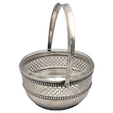 Continental Silver Bridal Basket With With Piercing