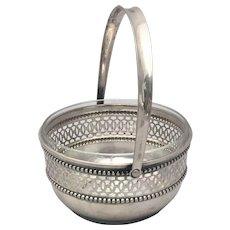Continental Silver Pierced Bridal Basket / Bowl
