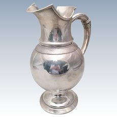 Whiting & Co Sterling Water Pitcher