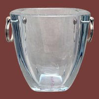Danish Glass and Sterling Silver Ice Bucket