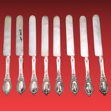 Tiffany & Co Sterling Breakfast Knives Set of 8 Ca 1859