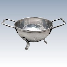 Cartier Sterling Footed Olive Sieve