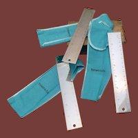 Sale! Set of Three Tiffany & Co Silver Metric Rulers