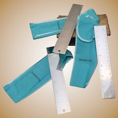 Set of Three Tiffany & Co Silver Metric Rulers